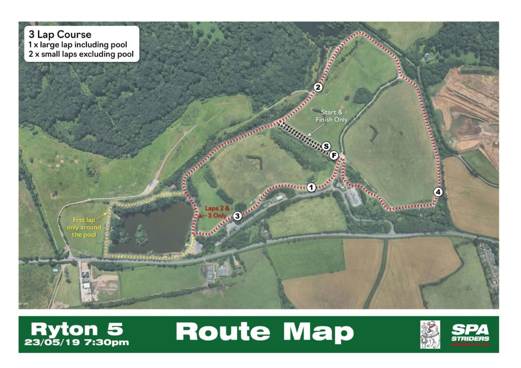 Ryton 5 route map